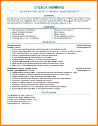 resume fitness instructor the questions samples of experience