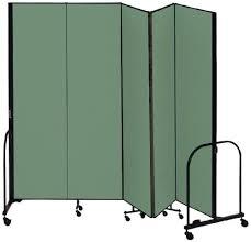 screenflex cfsl745 dn commercial portable room divider 5 panels