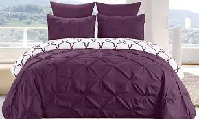 esy reversible pintucked duvet cover set 3 piece groupon