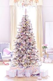 pink christmas tree white christmas tree with pink decorations design decoration