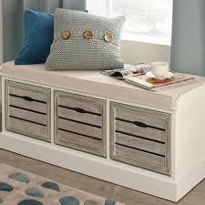 http www dunelm mill shop atlanta white 3 drawer bench White Bench With Storage