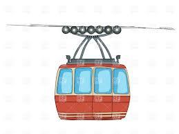 cartoon car png cable car on ropeway cartoon drawing vector clipart image 20273