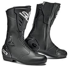 boots motorcycle riding sidi black rain boots revzilla