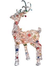 lighted reindeer bargains on puleo 163 de3105lod lighted reindeer with ornaments 48