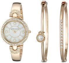 bangle bracelet watches images Anne klein women 39 s ak 1960gbst swarovski crystal accented gold jpg