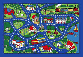 Kids City Rug by 5x7 Area Rug Play Road Driving Time Street Map Car Kids City Fun