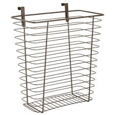 kitchen cabinet storage target mdesign hanging cabinet door kitchen storage basket trash can bronze