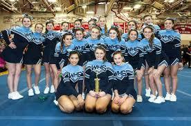 whs cheerleaders win spirit award at fciac championship wilton