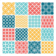 clean modern wallpaper set 일러스트 589970604 istock