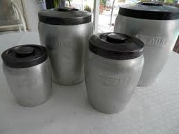 metal kitchen canisters vintage retro thames japan set of 4 metal kitchen canisters