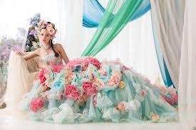 colorful wedding dresses stella de libero colorful wedding dress party theme ceremony