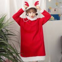 cosplay sheep costume hoodie with horns ruffle sweatshirt dress