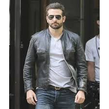 leather racing jacket bradley cooper sports jacket black leather biker jacket