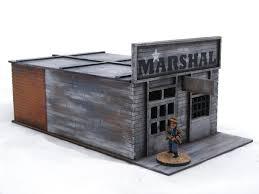 old west cowboy western town u2013 6 buildings plus corral pack 25mm