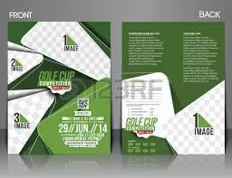 torneio de golfe frente u0026 verso template flyer royalty free