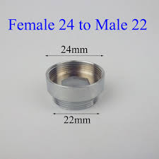 female 24 to male 22 chromed purifier faucet adapter in kitchen