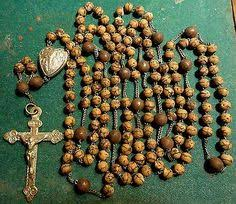 15 decade rosary franciscan crown rosary 19 early 20th century rosary