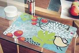 large plastic table mats nish birds flowers collection acrylic plastic washable table