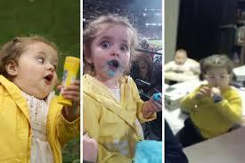 Running Baby Meme - bbc interview girl s yellow coat is secret to going viral