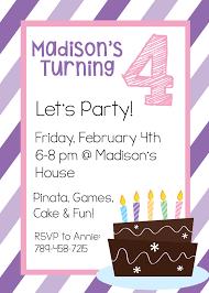 birthday invite template 4th birthday invitation wording 4th birthday invitation wording