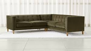 Who Makes Crate And Barrel Sofas Aidan Olive Green Sectional Sofa Crate And Barrel