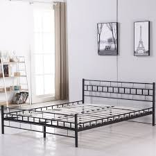 Metal Bed Frame Double Bedroom Queen Metal Bed Frame Must You Choose In Good Design And