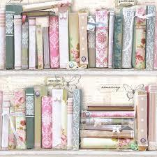 graham u0026 brown fresco collage bookcase wallpaper wallpaper