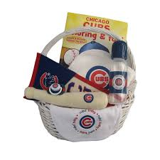 chicago gift baskets cubs baby gift basket home run