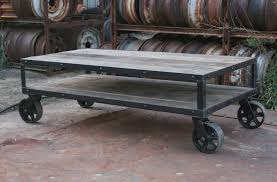 Rustic Coffee Table On Wheels Coffee Table Industrial Rustic Coffee Table With Casters
