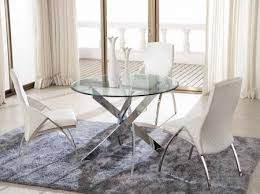 chrome round dining table cross clear glass round dining table with x shaped chrome base