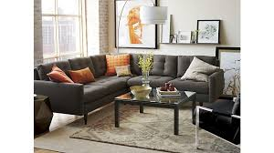 Parsons Clear Glass Top Dark Steel Base X Square Coffee Table - Crate and barrel black bedroom furniture