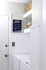 Install Beadboard Wainscoting Beadboard Paneling Transforms Laundry Room Laundry Rooms