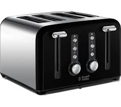 4slice Toasters Buy Russell Hobbs Windsor 22832 4 Slice Toaster Black Free