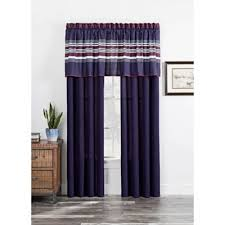 Navy Blue And White Curtains Buy Navy Blue Curtain Panels From Bed Bath Beyond