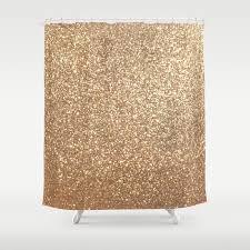 Gold Metallic Curtains Copper Gold Metallic Glitter Shower Curtain By Podartist