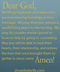marriage prayers for couples healing marriage when my spouse refuses counseling