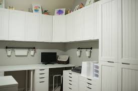 ikea white beadboard kitchen cabinets craft room reveal and tour