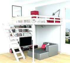bureau 2 places lit combine mezzanine lit combine lit multifonction momo gris et