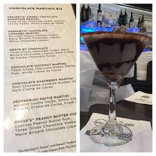 martini peppermint chocolate caramel martini from the chocolate bar in las vegas new