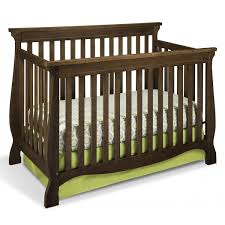 Fixed Side Convertible Crib Storkcraft Carrara Fixed Side Convertible Crib In Dove Brown Free