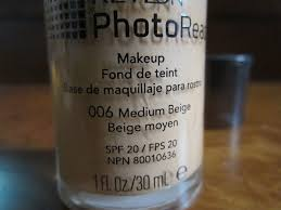 revlon photoready makeup spf 20 foundation 006 medium beige review