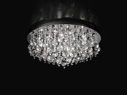plafoniera a soffitto plaf con cristalli d60 cm 9xg9 33w perenz5840