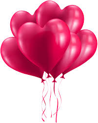 heart balloons bunch of heart balloons transparent png image gallery