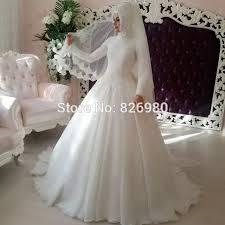 click to buy u003c u003c elegant hijab long sleeve muslim wedding gown with