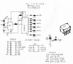 led sequencer wiring diagram components