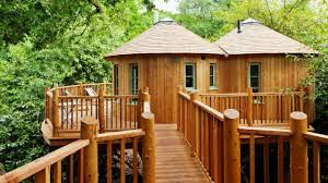 Real Treehouse Livable Treehouses Tree Houses For Living Youtube