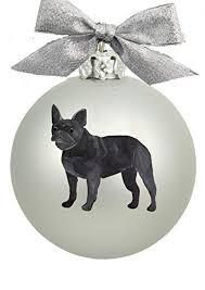 black bulldog ornament mosaic