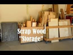 Rolling Lumber Storage Rack Plans by Scrap Wood