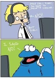 Monster Meme - funny tech support vs cookie monster meme