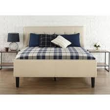 Tufted Platform Bed Zinus Upholstered Button Tufted Platform Bed With Footboard